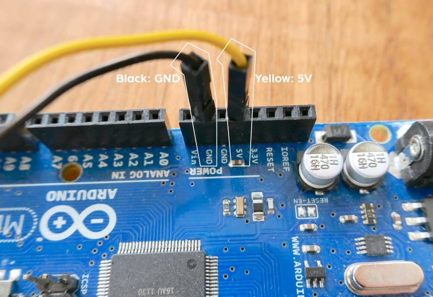Connecting to Arduino power supply on MEGA