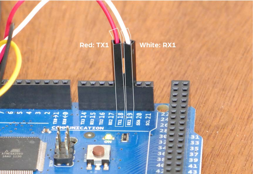 Connecting to Arduino Serial1 on MEGA