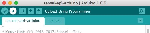 Upload Sensel API sketch to Arduino