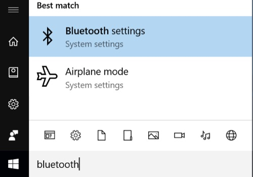 Open the Windows Bluetooth control panel
